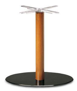 Art.700/Ovale, Base de la mesa oval, tubo de soporte de madera, para contrato y uso doméstico
