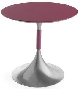 Art.Maind/720, Base redonda mesa, estructura metálica, con un estilo contemporáneo, para entornos de contrato y domésticos