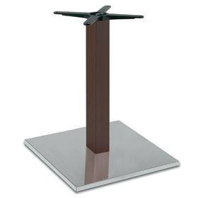 Firenze 9218, Base de mesa para bares, base de acero y columna de haya maciza