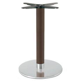 Firenze 9219, Base de mesa para bares, con base en acero y columna de haya maciza