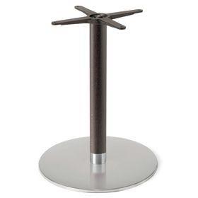 Firenze 9220, Base de mesa para bares, base de acero y columna de haya maciza