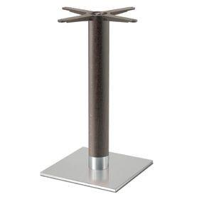 Firenze 9221, Base de mesa para bares, base de acero y columna de haya maciza