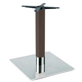 Firenze 9225, Base de mesa para bares, base de acero y columna de haya maciza