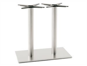 Inox.R 686, Base doble para mesa de restaurante