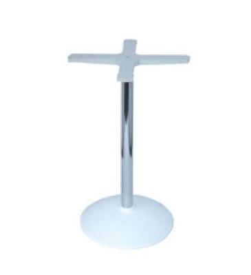 Round base cod. BRCC, Base de mesa de bar, columna de metal cromado