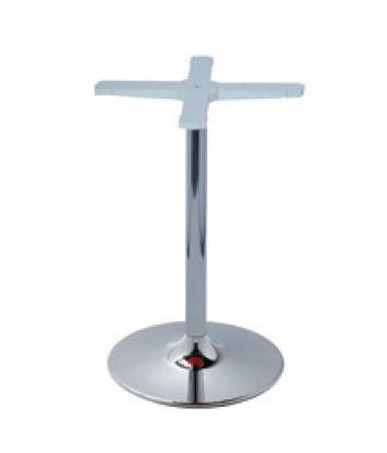 Round base cod. BVCC, Base de metal cromado para mesa, para bar y restaurante