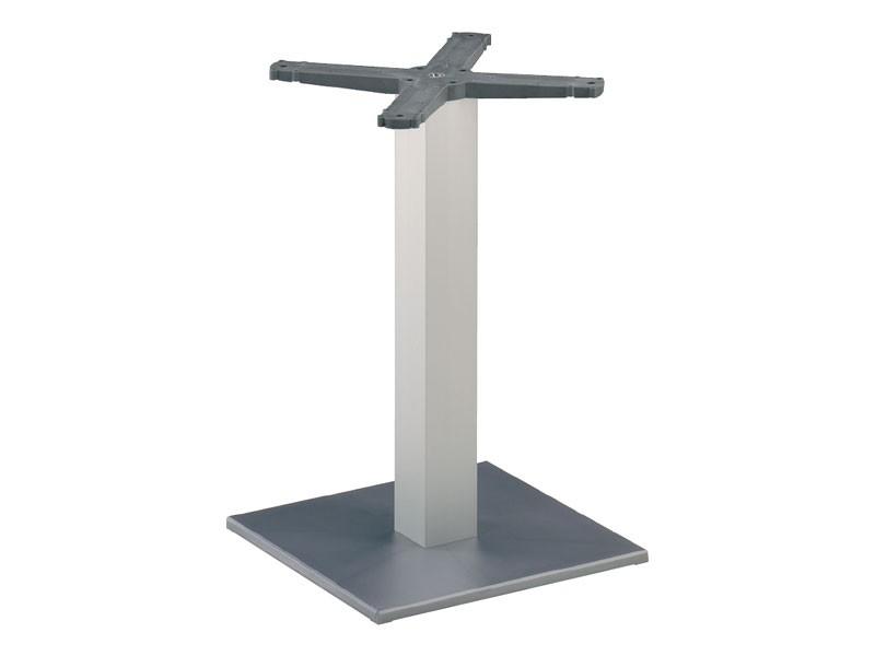 Square base cod. BQJ, Base de mesa de bar, columna de aluminio anodizado