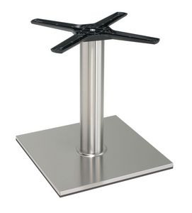 TG21 H.46, Base de aluminio para la mesa baja, formas lineales, para helader�as y cafeter�as
