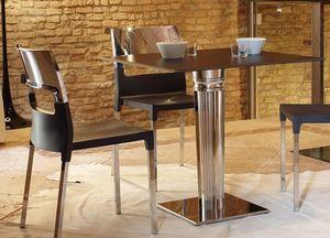 Tiffany Base - square base, Base cuadrada de mesa, en acero inoxidable con lastre
