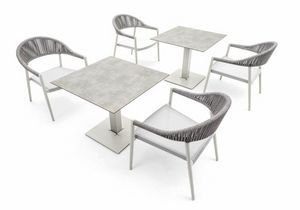 Tuxedo base low, Base de la mesa para exteriores, altura 66 cm