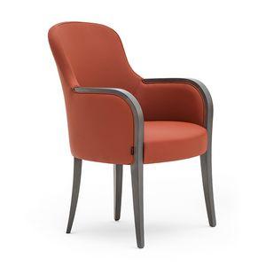 Euforia 00132, Sillón de hidromasaje, de madera maciza, asiento y respaldo tapizados, cubierta de tela, estilo moderno