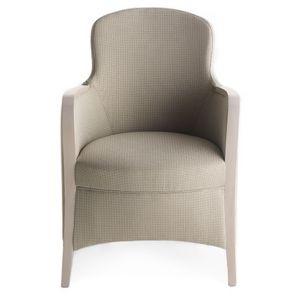 Euforia 00136, Sillón de hidromasaje, de madera maciza, asiento y respaldo tapizados, cubierta de tela, estilo moderno