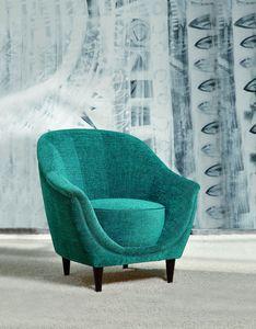 Frida, Elegante sillón con patas de madera