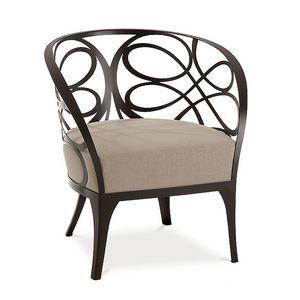 Noè sillón, Sillón de hierro plana, asiento acolchado de goma