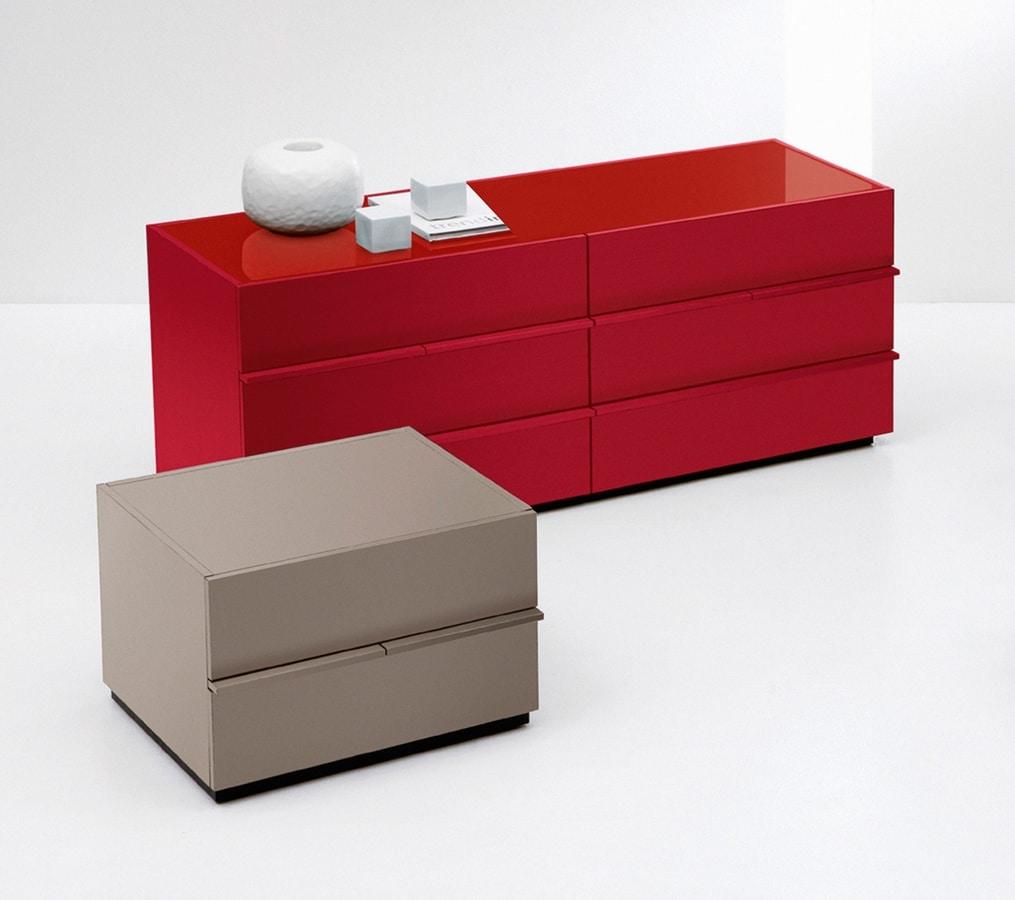 AKI chest of drawers, Aparador moderno de estilo minimalista, para el dormitorio