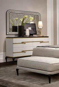 Dilan Art. D80, Cómoda elegante lacada en blanco
