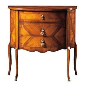 Emanuele FA.0060, Comoncino con tres cajones, de estilo clásico y lujoso.