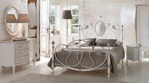 Enrico aparador, Pecho de madera maciza con cajones, embutido, para los dormitorios