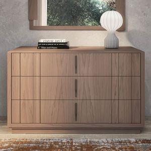 Nova NOVA1301T, Cómoda de madera moderna con zócalo