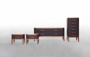 TIFFANY NIGHT, Armarios de dormitorio en madera y cuero