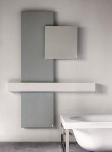 Square, Radiador de metal con toallero