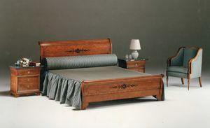 2465 cama, Cama clásica en madera embutida