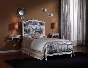 3615 CAMA INDIVIDUAL, Cama simple clásica adecuado para dormitorios