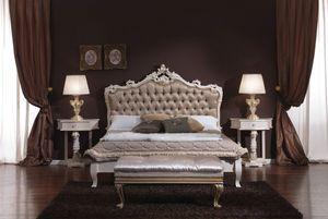 3645 CAMA, Abotonado cama de matrimonio ideal para hoteles y habitaciones