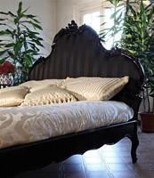 Art. 1660 Angelica, Decorado y tallado cama de madera, para habitación de hotel