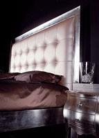Art. 1791 Diana, Cama tallada, cabecero de cuero ecológico, de hotel