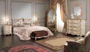 Art. 2006/970, Cama de lujo, estilo Luis XVI, con decoraciones hechas a mano