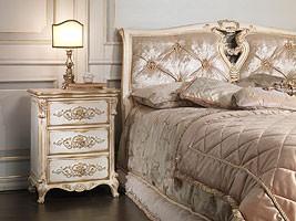Art. 2006-IM bed, Cama de madera maciza, cabecera de seda, de hotel de lujo