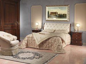 Art. 2026/952/2/C bed, Cama de lujo, hotel en madera y cuero, de 5 estrellas