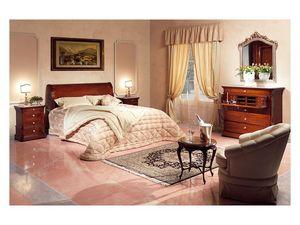 Art. 2026/952/2/L bed, Cama Mano decorado, en madera, para los dormitorios de estilo clásico