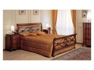Art. 294/T '700 Francese, Hecho a mano de madera de la cama, para la decoración habitación clásica