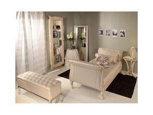 Art 3130 Arianna, Suntuosamente decorada cama, en imitación de cuero, para los hoteles
