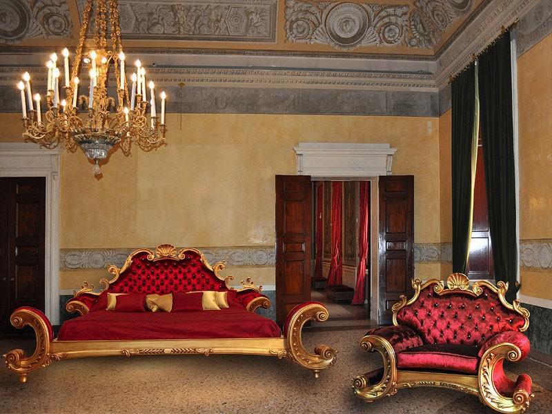 Art. Alexander cama, Mano cama terminado, terciopelo acolchado, sala de Lujo