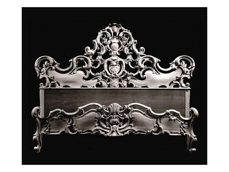 Bed art. 74, Cama con moldeo con la cáscara decorativa, de estilo barroco