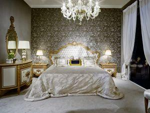Cama 3700 estilo Luis XVI, Cama de lujo estilo Luis XVI.
