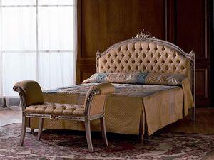 Canaletto, Acolchado cama doble en madera, para el dormitorio