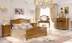 Carlotta cama, Cama de estilo clásico en madera de nogal