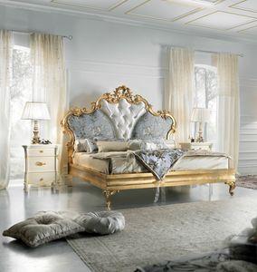 Diamante Art. 2401, Cama lujosa con acabado dorado