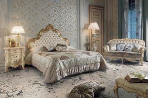 Elisabeth cama, Cama de lujo con cabecero tallado
