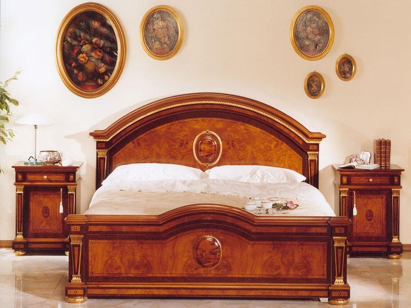 IMPERO / Double bed, Lujo clásico cama doble en madera, por castillos
