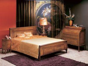 L304 Renoir cama, Cama doble, madera curvada, de estilo clásico