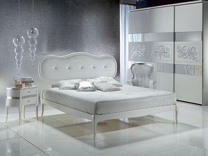 LE08 Novecento padded cama, Cama con cabecera tapizada, elegante, para el hotel de lujo