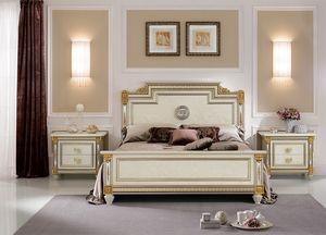 Liberty cama, Cama de lujo en stlye clásico, con decoraciones hechas a mano, con materiales de alta calidad