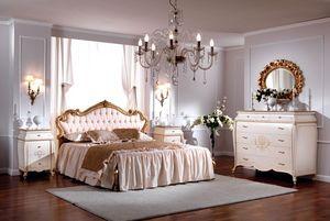OLIMPIA B / Double bed with upholstered headboard, Cama doble de lujo, cabecero acolchado