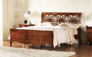Olympia cama perforada, Cama con cabecero perforado, hecho a mano