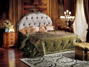 Paradise bed, Cama con cabecero capitonné upholtered